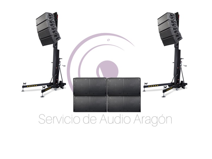 Line Array DAS 12400W RMS