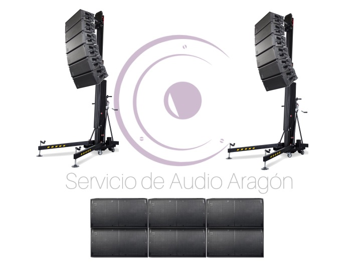 Line Array DAS 18600W RMS