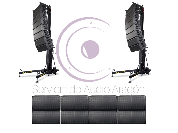 Line Array DAS 24800W RMS